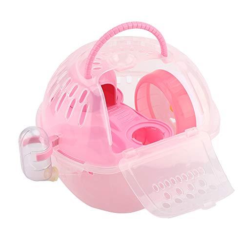 Maquer Tragbares Hamsterzubehör, voll ausgestattetes Zubehör mit 11-cm-Heimtrainer-Hamsterhaus, für...