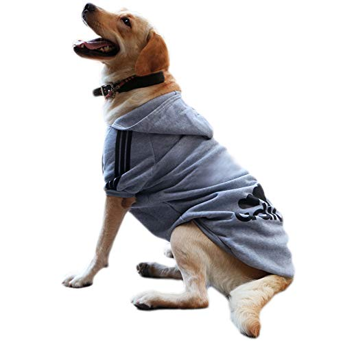 Eastlion adidog Hunde Warm Hoodies Mantel Kleidung Pullover Haustier Welpen T-Shirt Grau 9XL