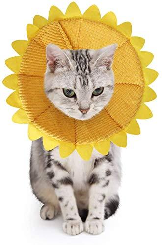 SLSON Halskrausen für Hunde Katze,Bequem Weich Recovery Schutz für Haustier Nackenschutz Kissen und...
