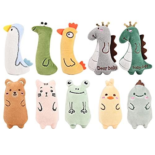 YIIFELL Spielzeug mit Katzenminze,10 Stück Katzenspielzeug mit Katzenminze,Katzenspielzeug Set aus...