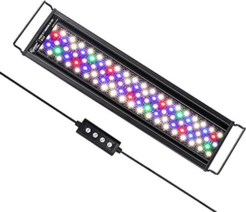 hygger Aquarienbeleuchtung, Aquarium LED Beleuchtung, 24/7 Modus für Sonnenaufgang-Tageslicht-Mondlicht,...
