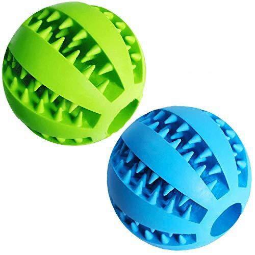 Hundespielzeug welpe 2 Stück Spielzeug für Hunde Kauspielzeug 7.6cm Grün + Blau