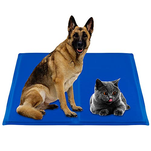 infinitoo Kühlmatte Hunde Katzen Haustiere Matte zur Regulierung der Körpertemperatur Pad...