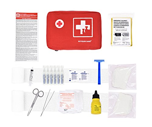 Erste-Hilfe-Kit für Haustiere (enthält ANTISEPTISCHE LÖSUNG, PHYSIOLOGISCHEN SERUM, RETTUNGSDECKE,...