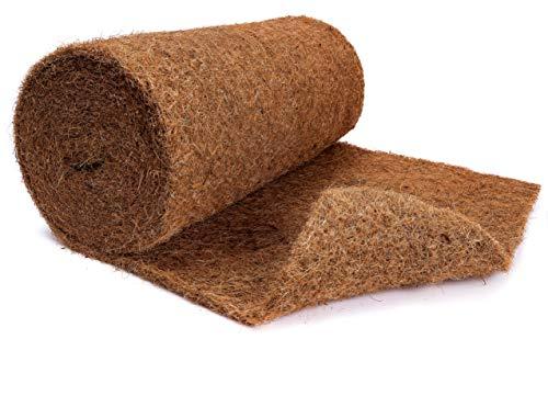 N Nagerteppich.de Kokosmatte aus 100% Kokosfasern - 50cm x 5m Rolle Anzuchtmatte ohne Latex -...