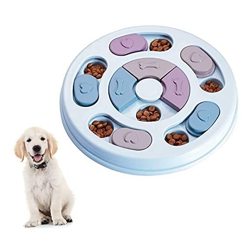 Elezenioc Hunde-Puzzle-Spielzeug, für langsames Fressen, für Welpen, Leckerli-Spender, Fressnapf für...