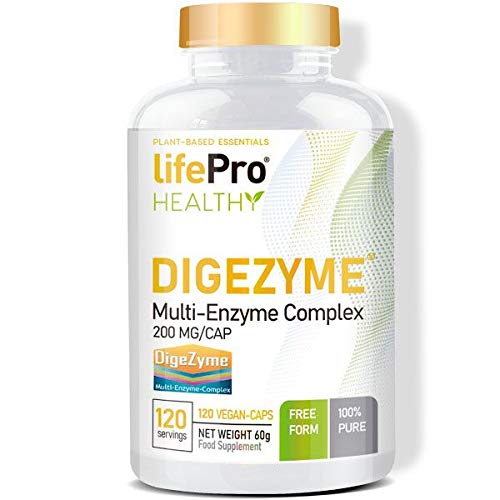 Life Pro Digezyme 200 mg 120 Vegan Caps   Vegan Caps   Vegan Vegan Kapseln   Stimuliert das Immunsystem  ...