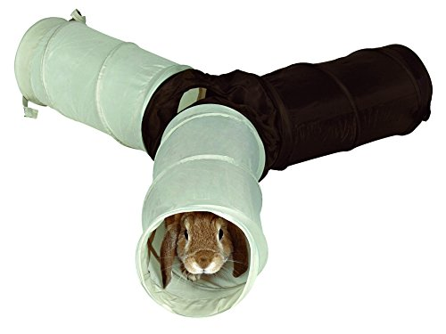 Trixie 62791 Spieltunnel für Kaninchen, 3 × ø 18 × 47 cm