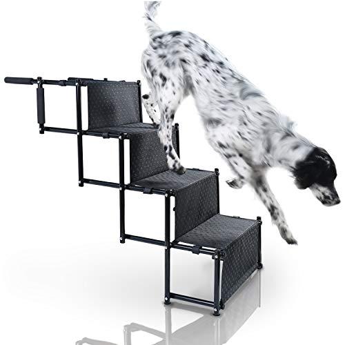 Bella & Balu Hundetreppe – Die gelenkschonende Rampe für Ihr Haustier I Faltbare Einstiegshilfe mit...