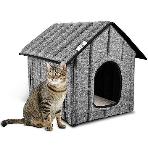 PUPPY KITTY Katzenhaus Katzenhöhle für Katzen Winterfest Katzenhöhle Faltbar Hautier Haus mit...