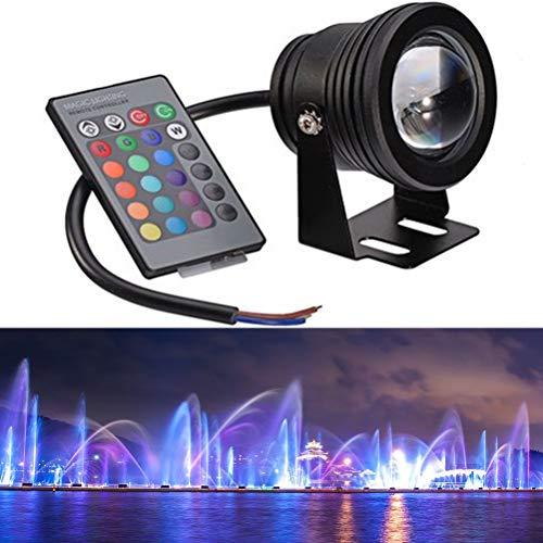 OSALADI Brunnen Pool Lampe LED Fernbedienung Licht Unterwasser Farbwechsel Aquarium Teich Lichter (Black...