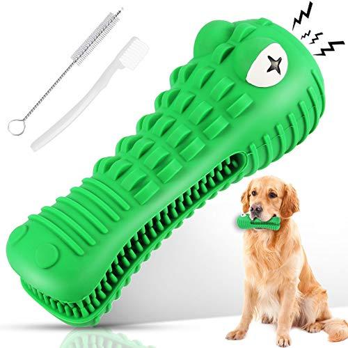 Ausbond Hundespielzeug Unzerstörbar, Hunde Spielzeug Kauspielzeug Kaustab Mit 2 Reinigungsbürste,...