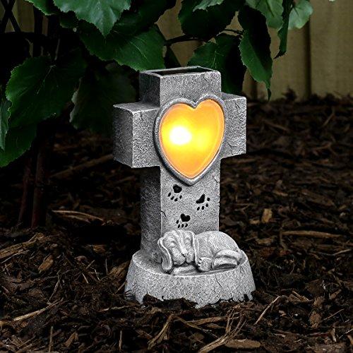 Festive Lights solarbetriebener, geschmackvoll, gediegen und liebevoll gestalteter Gedenkstein für Ihren...