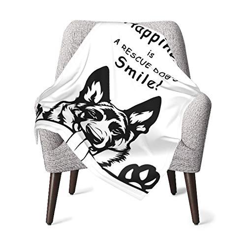 Baby-Decke für Jungen und Mädchen, Hunde, Glück, Kinderzimmer, Einschlagdecken, niedlicher...