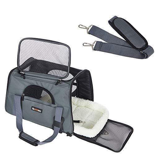 FEANDREA Hundetasche, Transporttasche für Haustiere, dunkelgrau PDC44GY