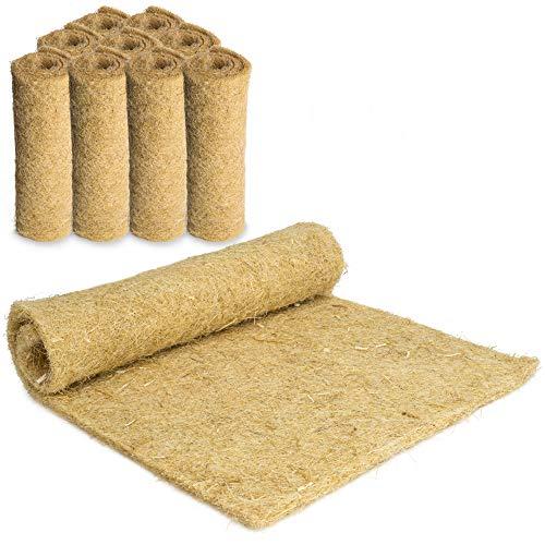 Nagerteppich aus 100% Hanf, 40 x 25cm, 5mm dick, 10er Pack, Hanfteppich für alle Arten Kleintiere,...