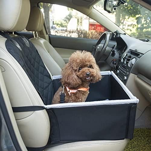 Vicera Auto Hundesitz für kleine & mittlere Hunde, Enorm Stabiler & Komfortabler Hunde Autositz für...