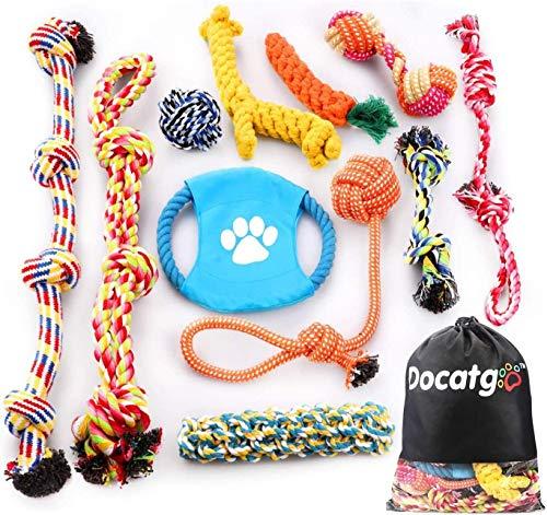 Docatgo Hundespielzeug, Hergestellt aus Natürlicher Baumwolle ungiftig und geruchlos Robust Besser für...