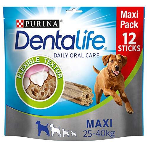 PURINA DENTALIFE Maxi Hunde-Zahnpflege-Snacks, reduziert Zahnstein-Bildung und Mundgeruch, Huhn, große...