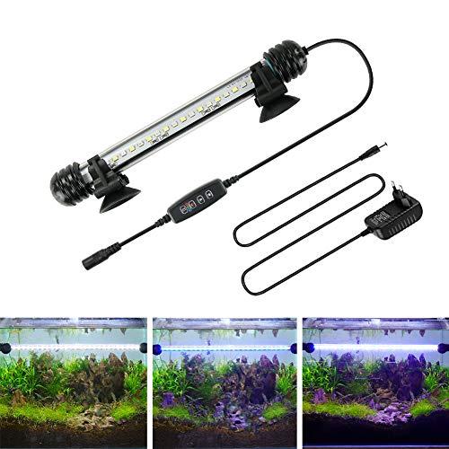 BELLALICHT LED Timer Aquarium Beleuchtung - Aquarien Lampe Weiß Blau Licht mit eingebautem Timer Dimmer,...
