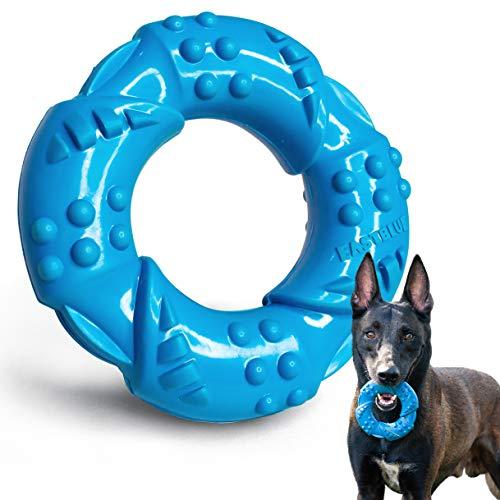EASTBLUE Hunde-Kauknochen-Spielzeug für Aggressive Kauer: Besonders zäher Naturkautschuk, Welpen...