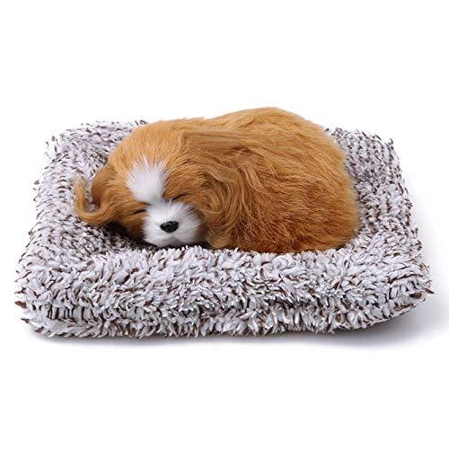 XUZHUO Schlafendes Hundespielzeug, simuliert, schlafender Hund, Welpe, Dekoration, süßes Tier,...