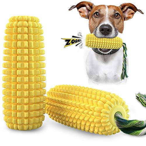 Aoweika Hundespielzeug UnzerstöRbar Welpe Kleine Große Hunde,Maisförmiges Quietschendes Hundespielzeug...