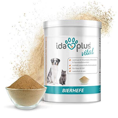 Ida Plus - Reines Bierhefe-Pulver - 500g - 100% Naturprodukt für Hunde, Katzen & Pferde -...