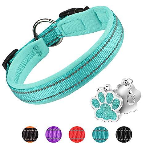 PcEoTllar Hundehalsband Verstellbare Weich Gepolstertes Neopren Nylon Hunde Halsband Reflektierend...