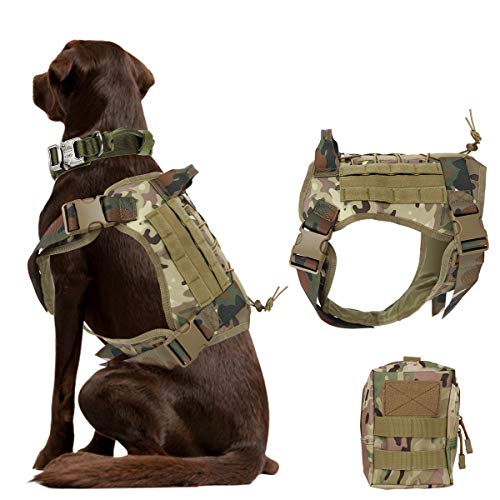 Bociks Taktisches Hundegeschirr, Militär-Hundegeschirr, Arbeits-Hundeweste, Molle-Trainingsweste, Patrol...
