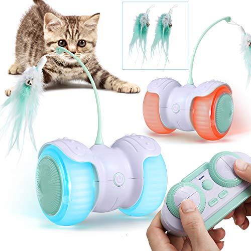 Katzenspielzeug Elektrischer Interaktives Ball,Automatischer Drehender Katzenball mit USB-Aufladung des...
