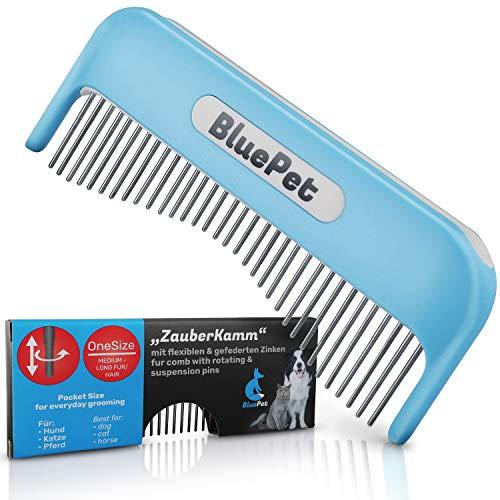 Bluepet® Katzenkamm Zauberkamm für Langhaar - entfernt Knoten - Hundekamm - auch als Katzenbürste...