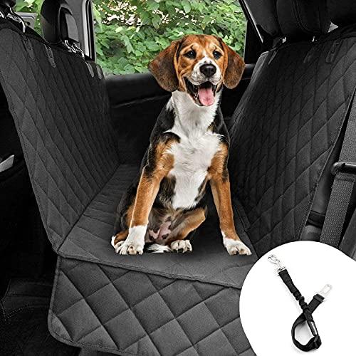 Bonve Pet wasserdichte Hunde Autoschondecke mit Seitenschutz & Reißverschlüsse, Hundedecke für Auto...