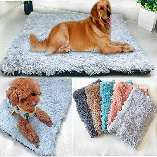 Plüschdecke für Hundekäfige, nur warme Matte, Katze, Kunstfell-Matratze, flauschige Decke, beheizte...