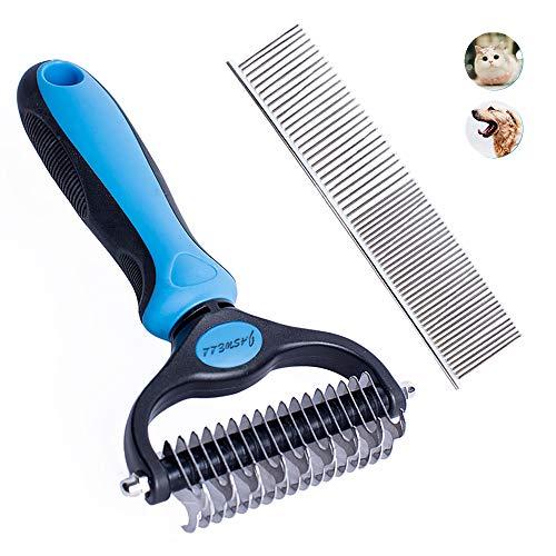 Jaswell Fellpflege-Werkzeug für Hunde und Katzen, 2-seitig, zum Entfernen von Verfilzungen und...