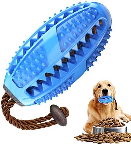 Zahnbürsten-Stick, Hundezahnbürste Hundespielzeug Kauspielzeug,Ball Leckerli-Spender für Hunde...