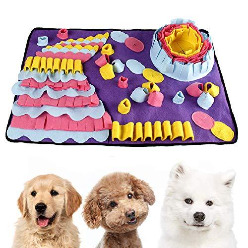 Einesin Hund schnüffelteppich intelligenzspielzeug, 70X50cm Interaktives Spielzeug für Hunde, Riechen...