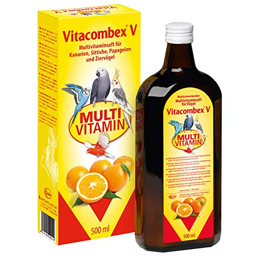 Vitacombex V 500ml - Multivitaminsaft für Kanarien, Sittiche, Papageien & Ziervögel - Optimale...