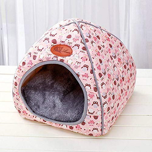 Queta Hunde- oder Katzenstreu/Haus/Bett, Haustier 2 in 1 Bett und Sofa, tragbares Katzenbett, Hundebett,...