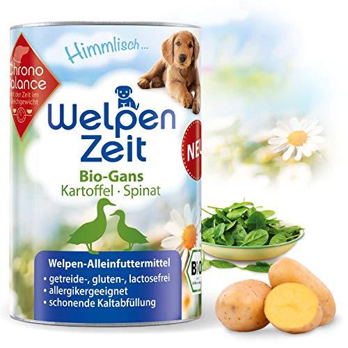 ChronoBalance® Bio-Nassfutter für Welpen, Bio-Rind, Bio-Gans, getreidefrei, glutenfrei, lactosefrei und...