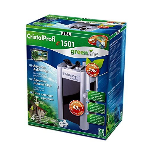 JBL CristalProfi e 1501 greenline 60212 Außenfilter für Aquarien von 160 - 600 Litern