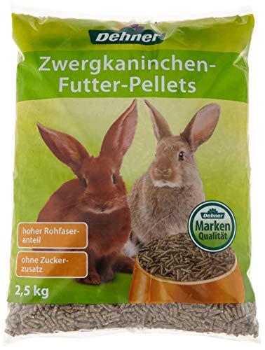 Dehner zwergkaninchen futter-Pellets, 4 x 2.5 kg (10 kg)