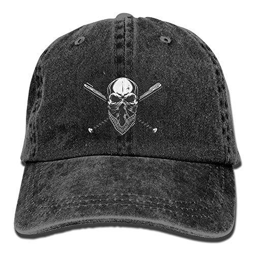 IIFENGLE Baseballmütze für Erwachsene, Retro, Sport, Cowboy-Hut, Unisex, verstellbar, Schwarz