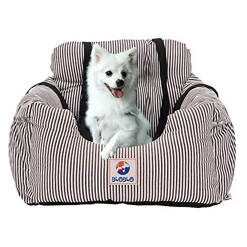 BLOBLO Sitzerhöhung für Hunde,Hunde Auto Reisebett mit Seitentasche und Hundeleine,Abnehmbarer...