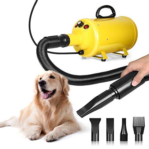 amzdeal Hundefön Pet Dryer 2800W für Hundepflege Tierfön mit Einstellbarer Windgeschwindigkeit,...