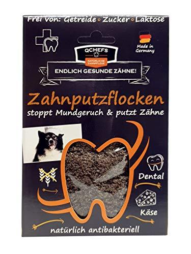 Qchefs Zahnputzflocken | Hunde Zahnpflege- Snack| Zahnpulver| Hundeleckerlie| Zahnsteinentferner | gegen...