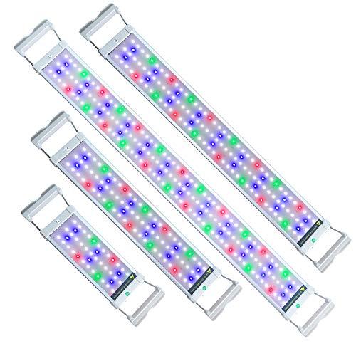 UISEBRT LED Aquarium RGB Beleuchtung 6W - Aquarium Pflanzen Lampe mit Verstellbarer Halterung für...
