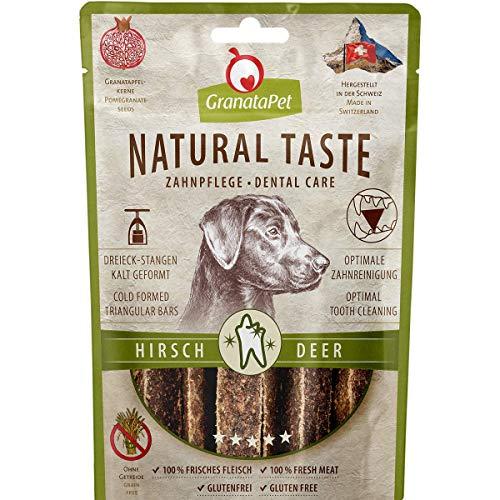 GranataPet Natural Taste Edler Snack Hirsch Zahnpflege, Hundeleckerli ohne Getreide & ohne...