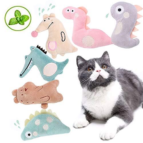 OneBarleycorn - 6 Stück Spielzeug mit Katzenminze, Niedlich Plüsch Katzenspielzeug Katzenminze Set |...