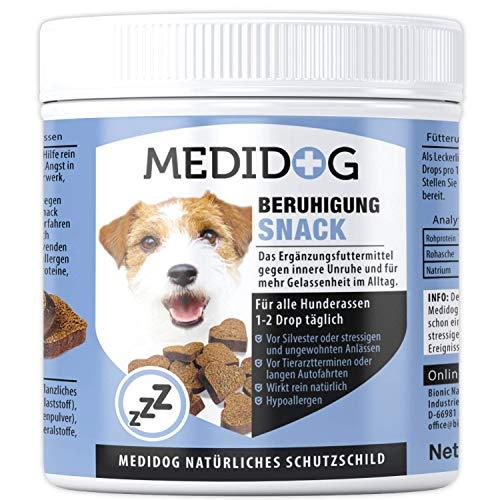 Medidog 400g Premium Beruhigung Relax Drops, natürliches Beruhigungsmittel für Hunde, Extra...